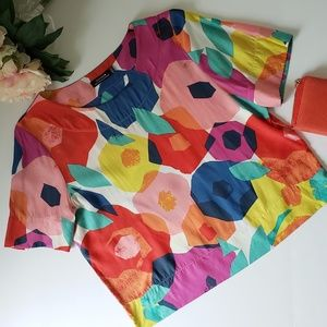 Abstract floral Kate spade top